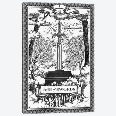 Ace Of Swords Canvas Print #BBI4} by Barrett Biggers Canvas Art