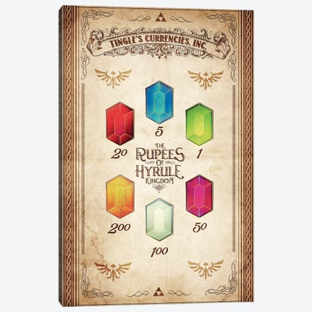 Kingdoms Currency Canvas Print #BBI52} by Barrett Biggers Canvas Art