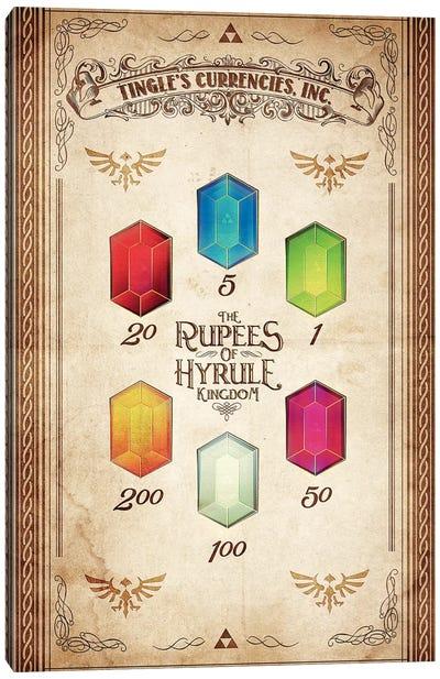 Kingdoms Currency Canvas Art Print