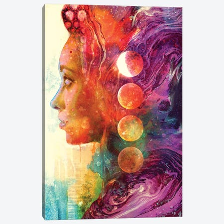 Luna Goddess 3-Piece Canvas #BBI59} by Barrett Biggers Canvas Art