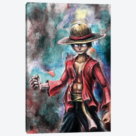 Monkey Pirate Canvas Print #BBI67} by Barrett Biggers Canvas Art