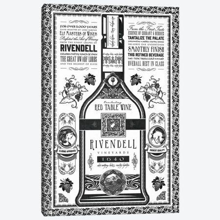 One Wine To Drink Them All Canvas Print #BBI75} by Barrett Biggers Canvas Print