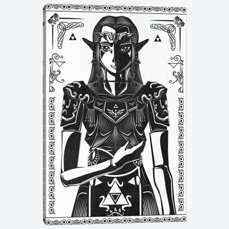 Princess Of Light Canvas Print #BBI80} by Barrett Biggers Canvas Print