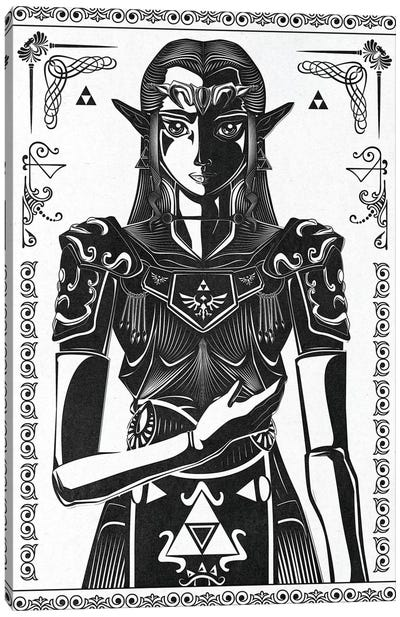 Princess Of Light Canvas Art Print