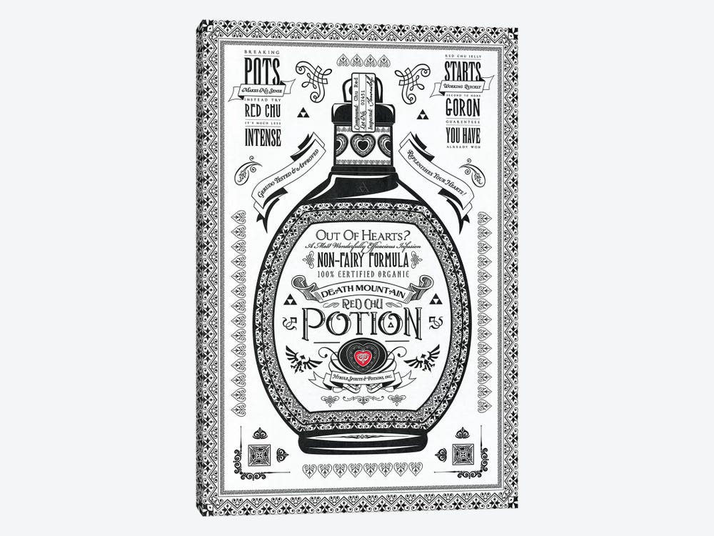Red Potion by Barrett Biggers 1-piece Canvas Artwork