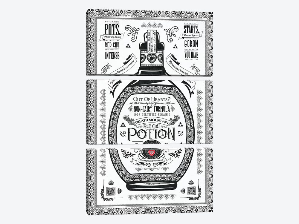 Red Potion by Barrett Biggers 3-piece Canvas Artwork