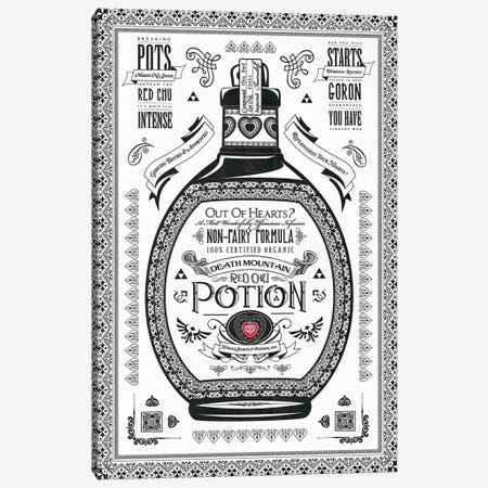 Red Potion Canvas Print #BBI84} by Barrett Biggers Canvas Artwork