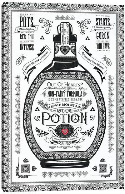 Red Potion Canvas Art Print