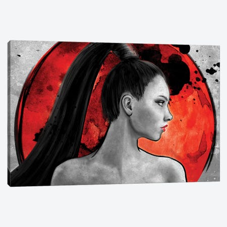 Red Warrior 3-Piece Canvas #BBI85} by Barrett Biggers Canvas Wall Art
