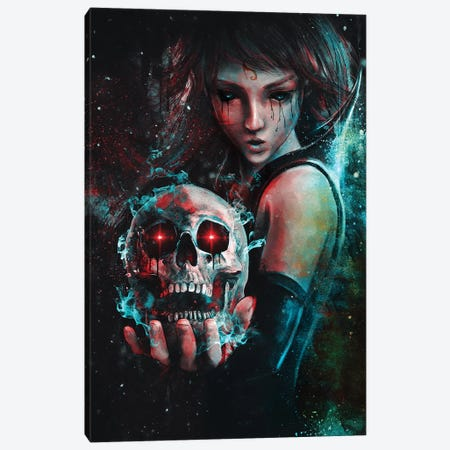 Skull Mage Canvas Print #BBI86} by Barrett Biggers Canvas Wall Art