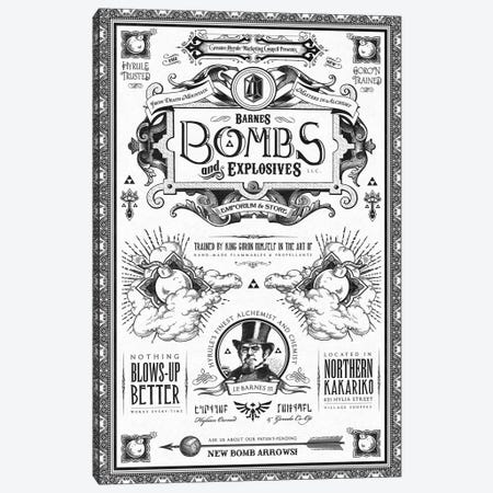 Barnes Bombs Canvas Print #BBI8} by Barrett Biggers Art Print