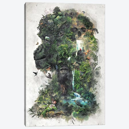 Surreal Gorilla Canvas Print #BBI93} by Barrett Biggers Canvas Art
