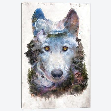 Surreal Wolf Canvas Print #BBI97} by Barrett Biggers Canvas Print