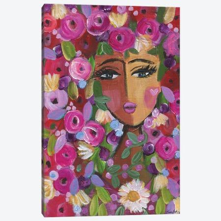 Flower Love Canvas Print #BBN107} by Brenda Bush Canvas Print