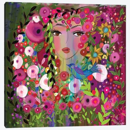 Bluebird Of Happiness Canvas Print #BBN116} by Brenda Bush Canvas Art