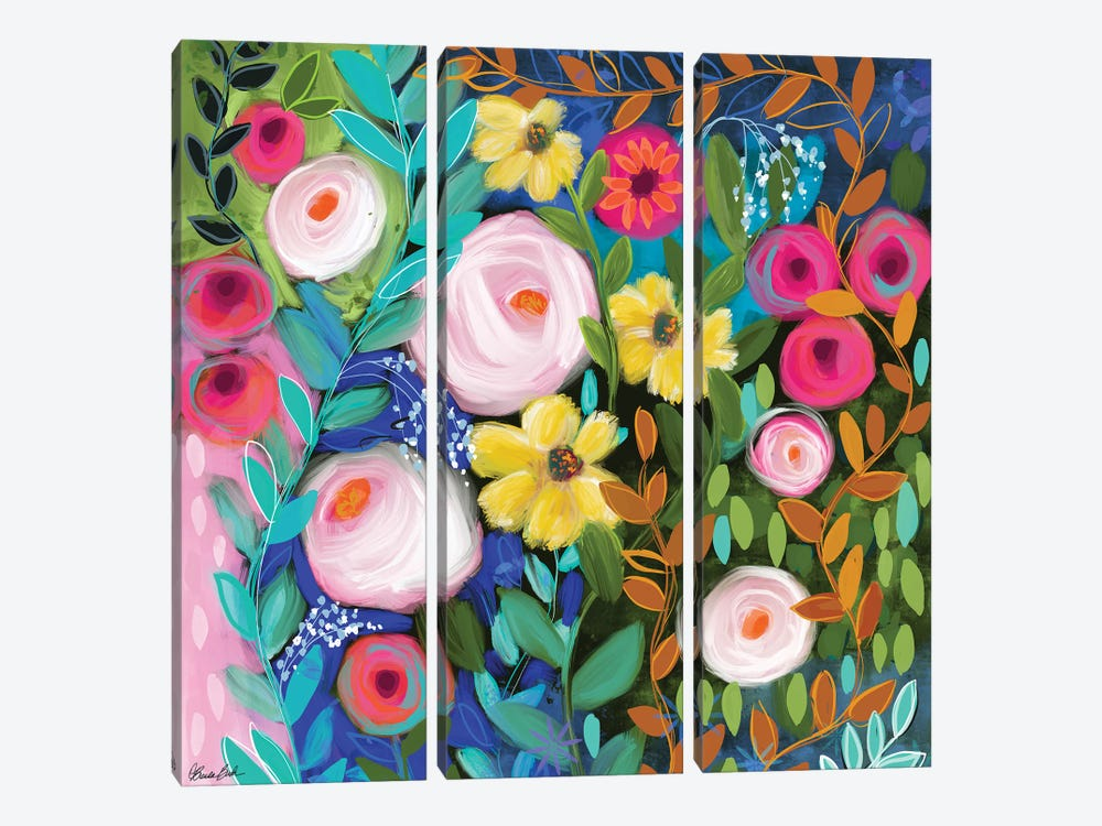 Garden Path by Brenda Bush 3-piece Canvas Wall Art