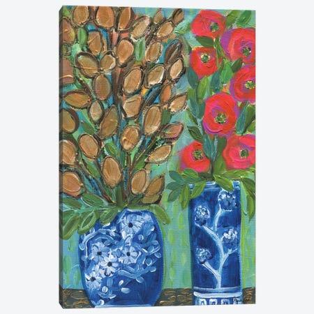 The Gold Blooms Canvas Print #BBN135} by Brenda Bush Canvas Wall Art