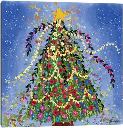 Happy Christmas Tree Canvas Art Print