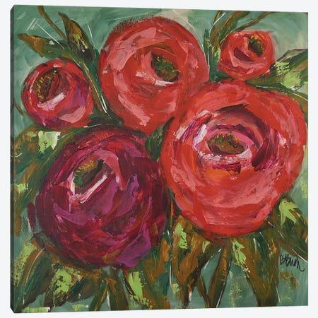 Ranuculas Canvas Print #BBN15} by Brenda Bush Canvas Wall Art