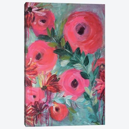 Pretty In Pink Canvas Print #BBN165} by Brenda Bush Art Print