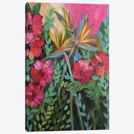 I Wanna Get Tropical Canvas Print #BBN169} by Brenda Bush Canvas Art
