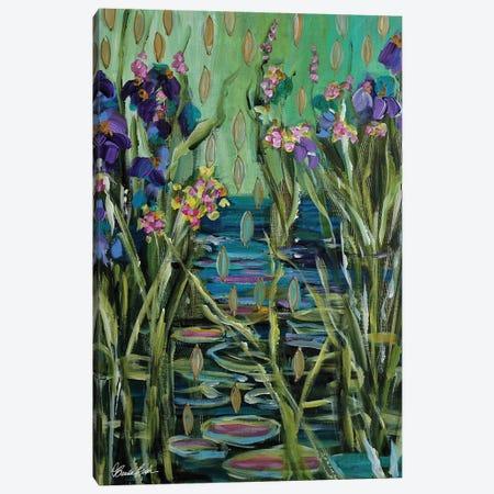 Zen Water Lilies Canvas Print #BBN175} by Brenda Bush Canvas Art