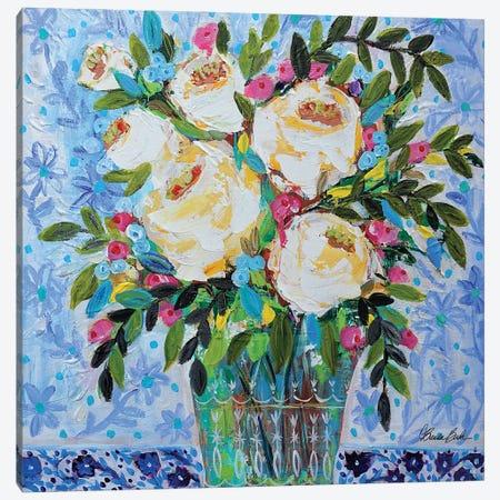 Chinoiserie Tablecloth Canvas Print #BBN177} by Brenda Bush Canvas Artwork