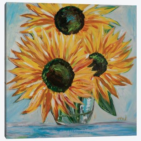 Sunshine In A Vase Canvas Print #BBN178} by Brenda Bush Art Print