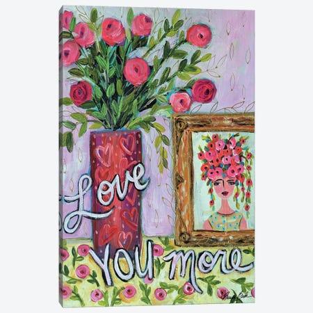 Love You More Canvas Print #BBN210} by Brenda Bush Canvas Wall Art