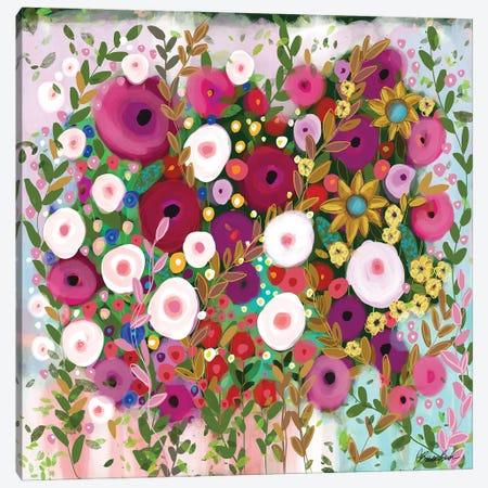 Feeling Feminine Canvas Print #BBN217} by Brenda Bush Art Print