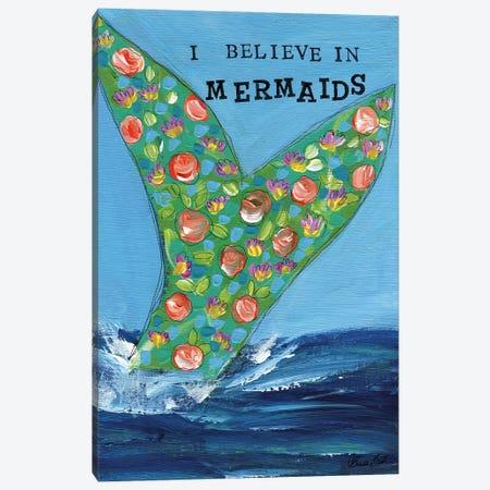 I Believe In Mermaids Canvas Print #BBN218} by Brenda Bush Canvas Artwork