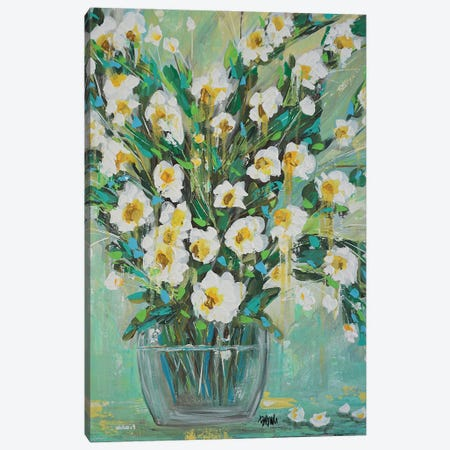 He Loves Me Canvas Print #BBN21} by Brenda Bush Canvas Artwork