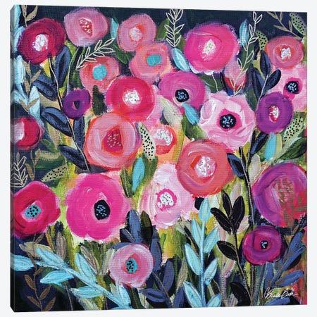 Glowing Garden Canvas Print #BBN222} by Brenda Bush Canvas Art Print