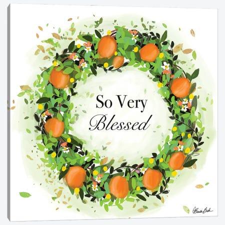 Oranges Wreath Canvas Print #BBN225} by Brenda Bush Canvas Art