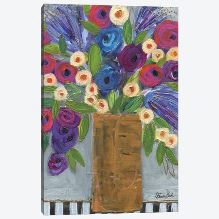 The Gold Vase Canvas Print #BBN244} by Brenda Bush Canvas Artwork