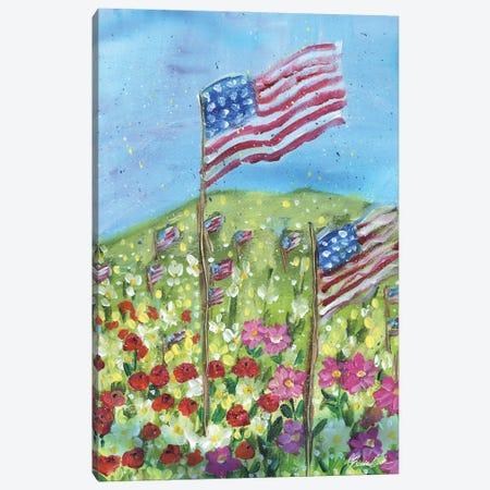Thankful In America Canvas Print #BBN255} by Brenda Bush Art Print