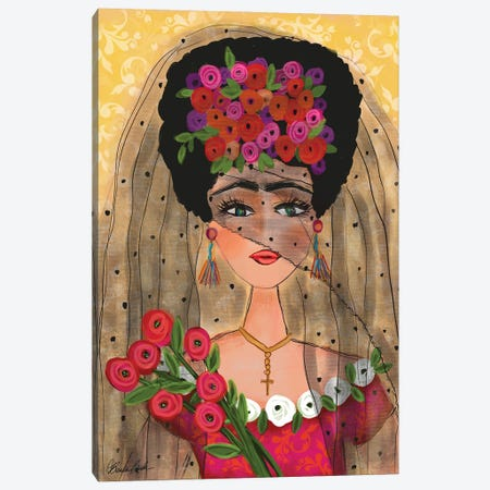 Frida In Her Veil Canvas Print #BBN260} by Brenda Bush Canvas Art Print