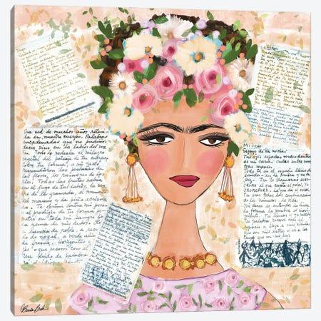 Frida's Love Letters Canvas Print #BBN268} by Brenda Bush Canvas Print