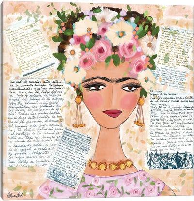 Frida's Love Letters Canvas Art Print