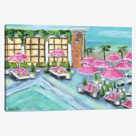 Pink Umbrellas Canvas Print #BBN276} by Brenda Bush Art Print