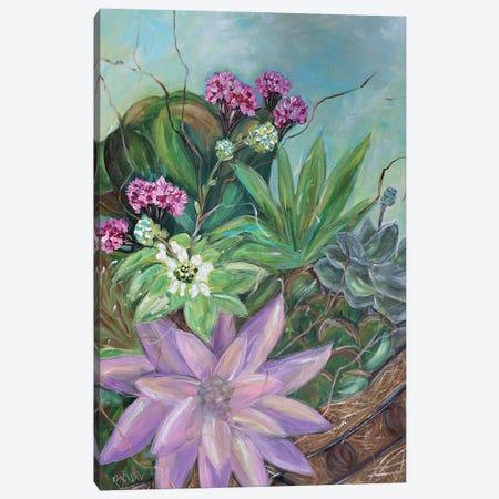 Succulent Basket Canvas Print #BBN28} by Brenda Bush Canvas Artwork