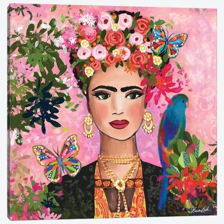 Frida In Her Garden Canvas Print #BBN291} by Brenda Bush Canvas Artwork