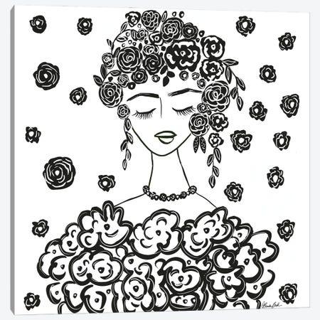 Dress Of Roses Canvas Print #BBN307} by Brenda Bush Canvas Art Print
