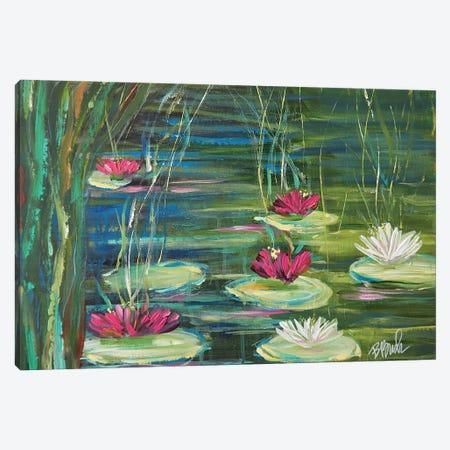 Lily Pads In Spring Canvas Print #BBN32} by Brenda Bush Art Print