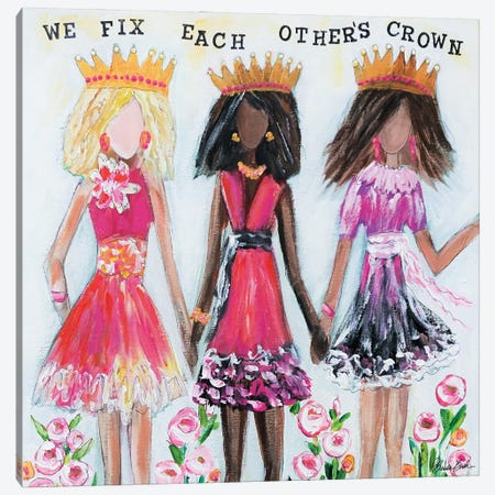 We Fix Each Others Crowns Canvas Print #BBN41} by Brenda Bush Canvas Artwork