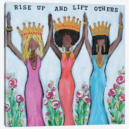 Rise Up And Lift Others Canvas Print #BBN43} by Brenda Bush Canvas Artwork