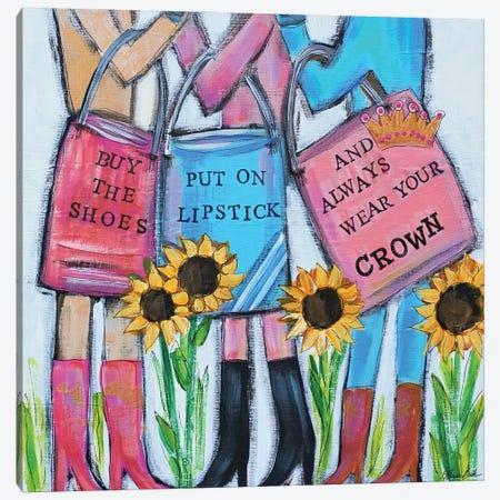 Girls Day Out Canvas Print #BBN44} by Brenda Bush Canvas Art Print