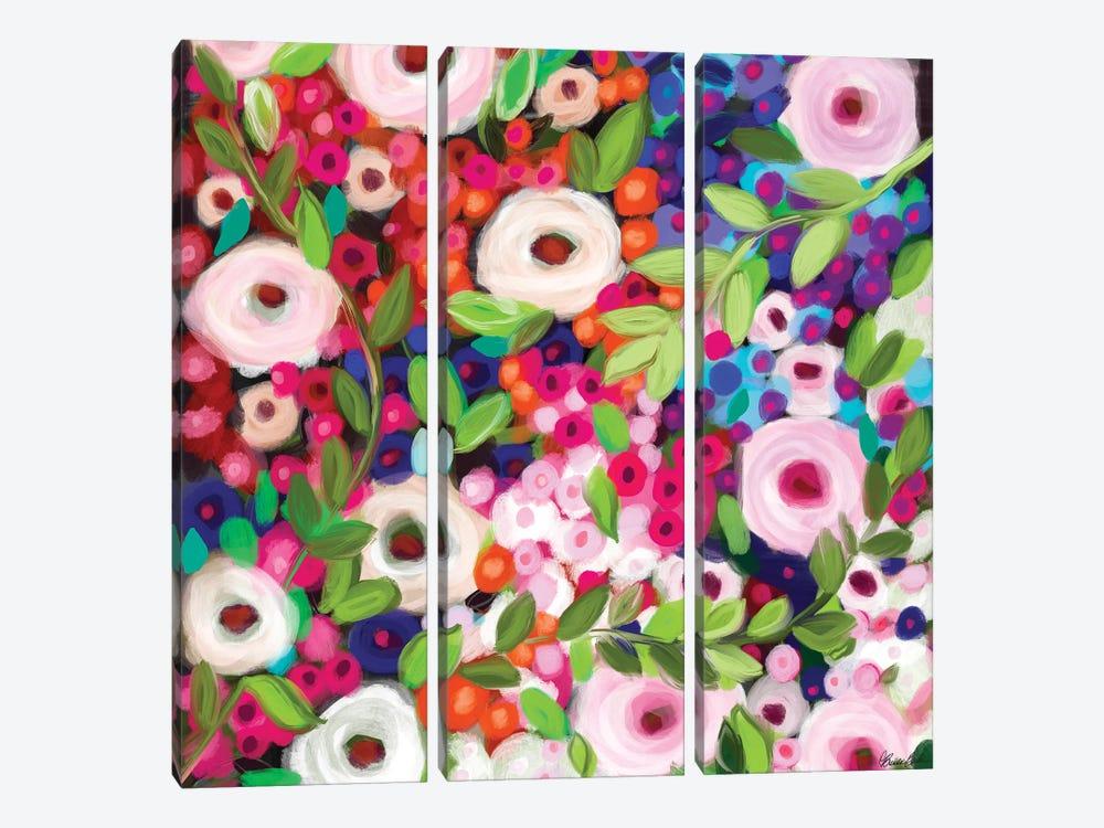 Garden Delight by Brenda Bush 3-piece Canvas Artwork