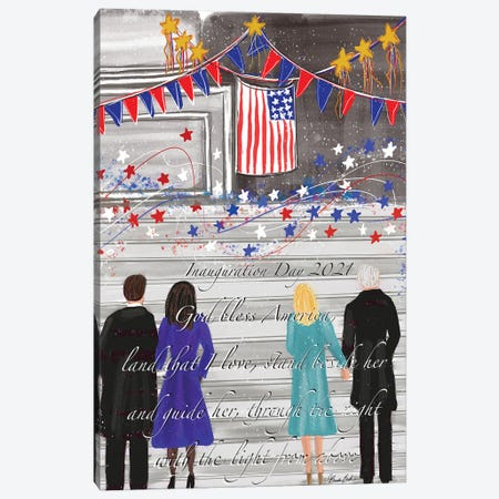 Inauguration Day Canvas Print #BBN79} by Brenda Bush Canvas Print
