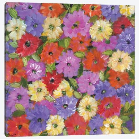 Laura's Flowers Canvas Print #BBN80} by Brenda Bush Canvas Artwork